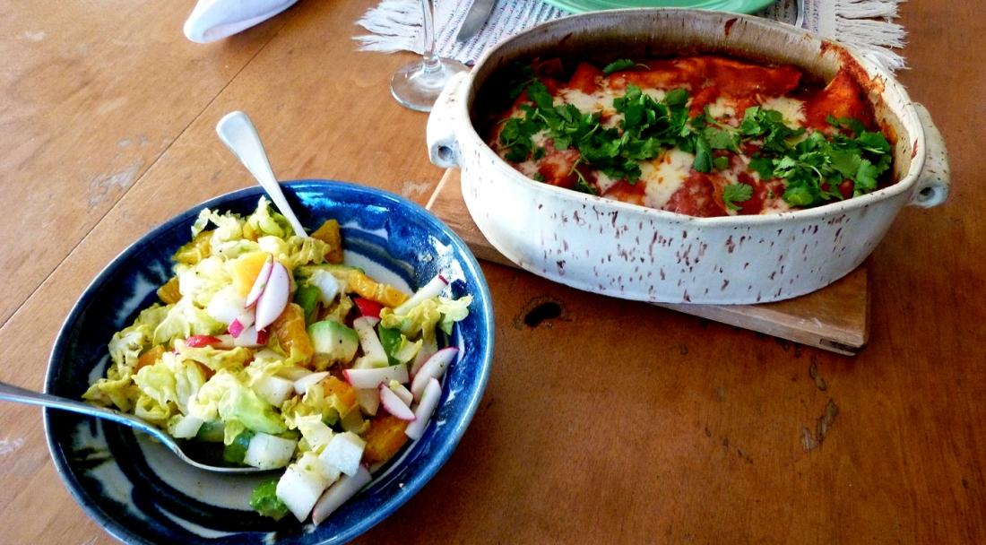 finished enchiladas