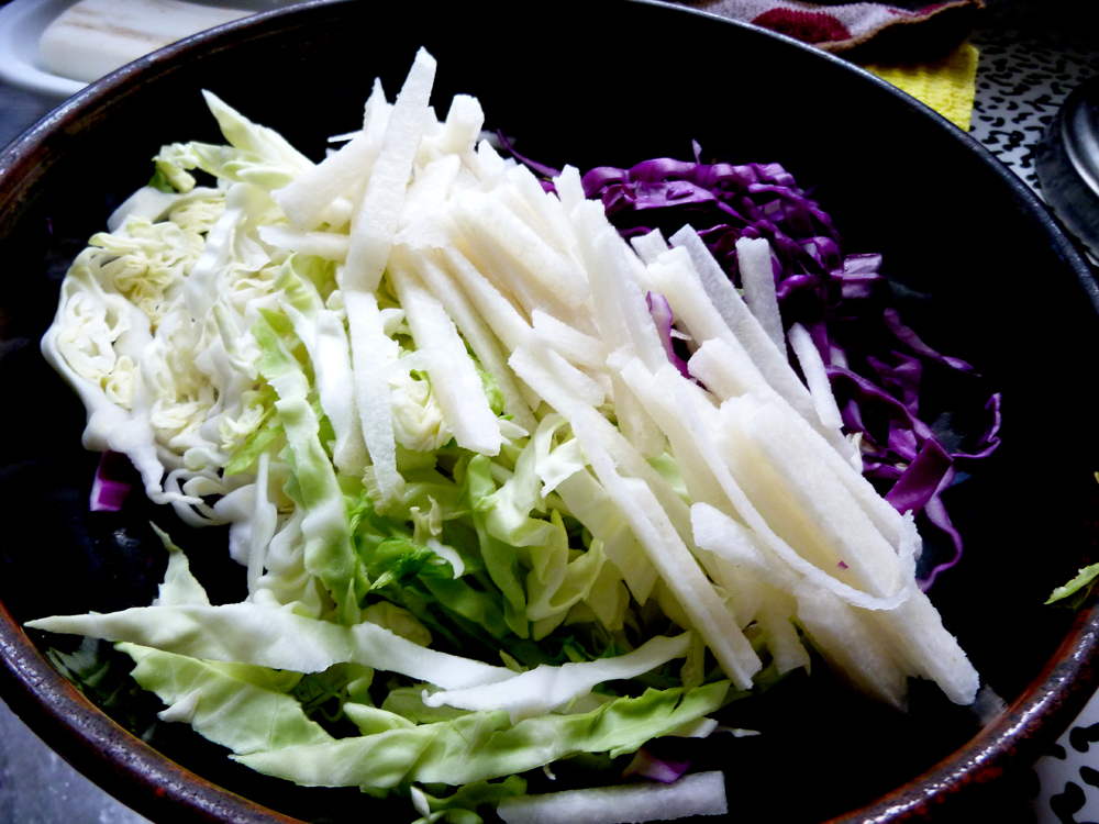cabbage and jicama