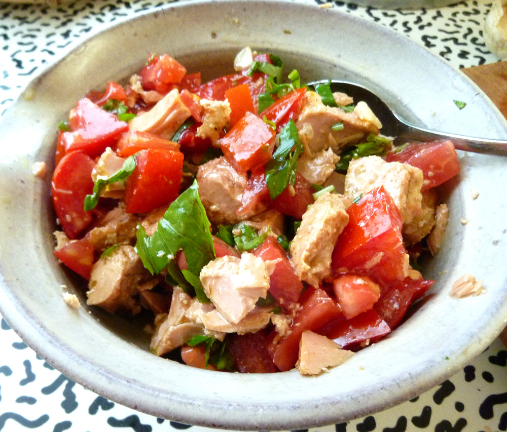 tomatoes and tuna
