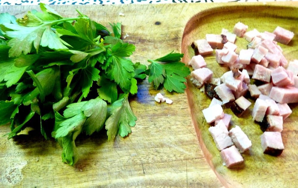 parsley and ham