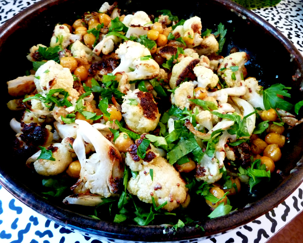 cauliflower and chick peas
