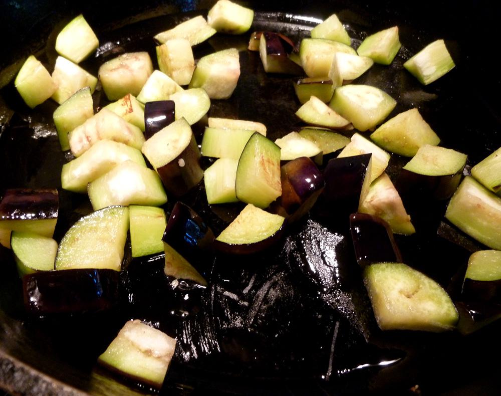 saute eggplant
