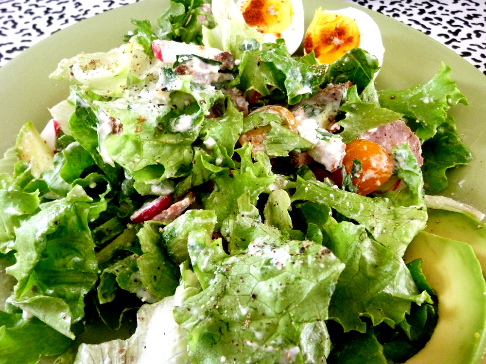salad with feta dressing
