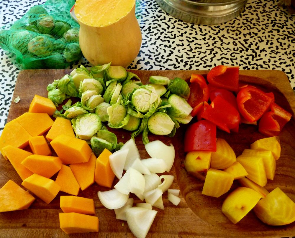 roasting veggies