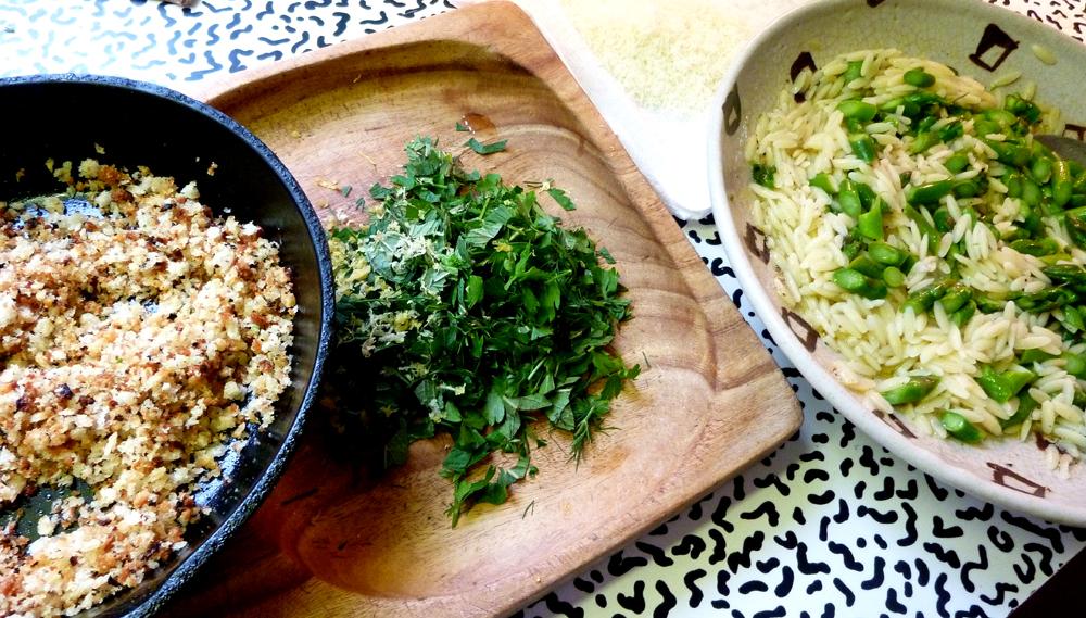 orzo with asparagus